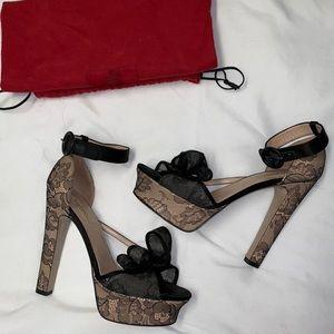 Valentino lace platform heel